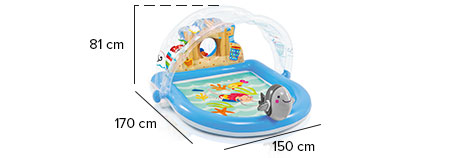 piscine aire de jeux beach party intex 57421