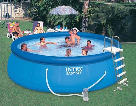 piscine autoport e easy set intex 4 57 x 1 22 m. Black Bedroom Furniture Sets. Home Design Ideas