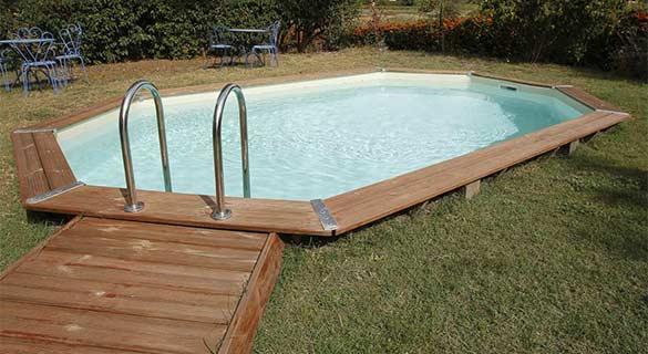 Piscine ubbink bois bahamas 5 x 3 5 x 1 2 m au meilleur prix - Mise en route piscine hors sol ...