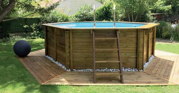 Pisicne bois ronde sunbay vanille 4 12 x 1 19 m filtration - Mise en route piscine hors sol ...