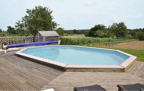 Piscine bois sunbay mod le vermela 6 72 x 4 72 x 1 46 m for Feutre protection liner piscine