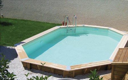 Piscine bois pas cher oc a 4 30 x 1 20 m ubbink jardideco for Installation piscine bois