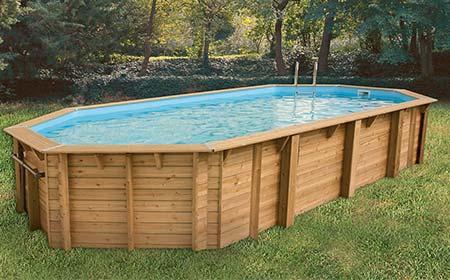 Piscine bois pas cher oc a 8 60 x 4 70 x 1 30 m ubbink for Skimmer pour piscine hors sol bois