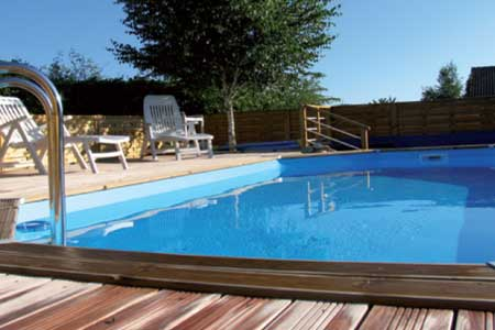 piscine bois ubbink carr e lin a 3 x 3 x 1 26 m liner au. Black Bedroom Furniture Sets. Home Design Ideas