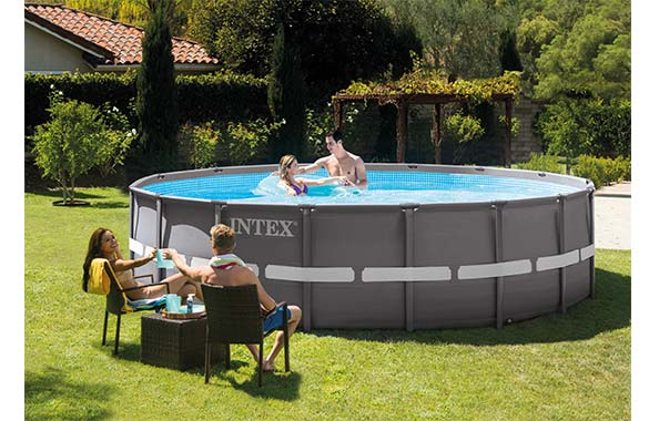piscine tubulaire intex ronde filtration eau 5 49 m. Black Bedroom Furniture Sets. Home Design Ideas