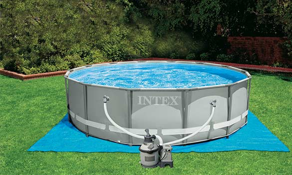 Piscine Tubulaire Ronde Intex Ultra Frame  X  M  Filtration