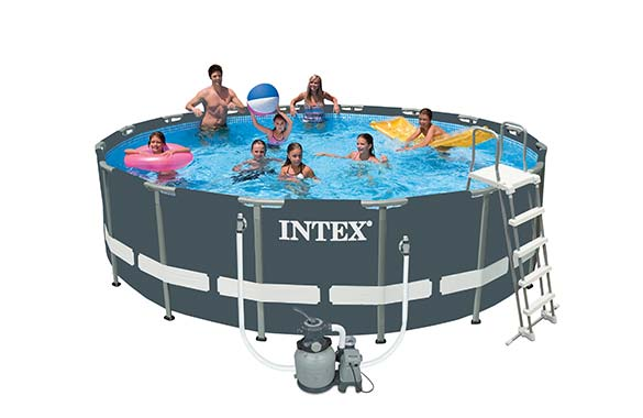 Piscine tubulaire ultra frame ronde 5 49 x 1 32 m intex for Piscine intex 5 m