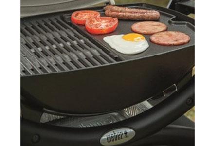 plancha pour barbecue gaz weber q1000 transformez votre. Black Bedroom Furniture Sets. Home Design Ideas