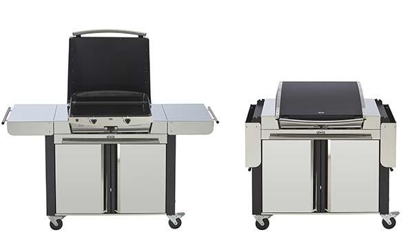plancha gaz eno riviera 60 2 bruleurs chariot et capot. Black Bedroom Furniture Sets. Home Design Ideas