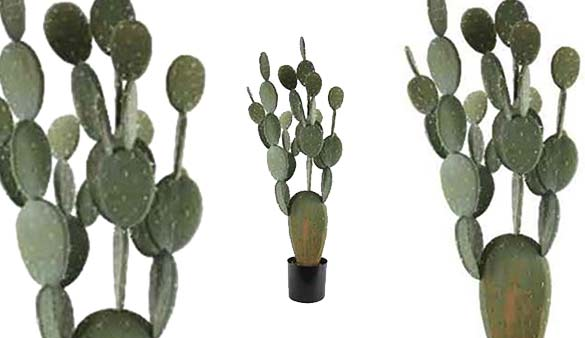 plantes d co cactus artificiel figuier de barbarie kaemingk. Black Bedroom Furniture Sets. Home Design Ideas