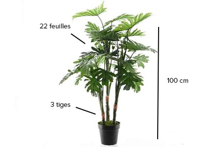 Philodendron hauteur 100 cm plantes artificielles for Belle plante artificielle