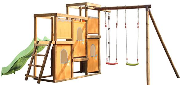 portique bois balan oire esterel soulet jardideco. Black Bedroom Furniture Sets. Home Design Ideas