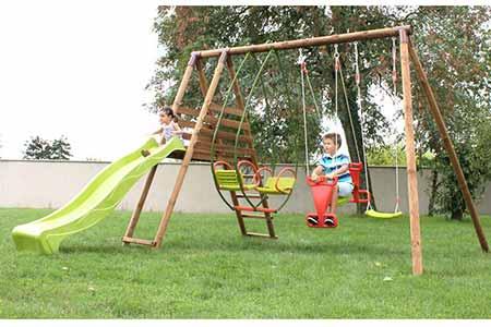 portique bois balan oire enfant hellebore soulet jardideco. Black Bedroom Furniture Sets. Home Design Ideas