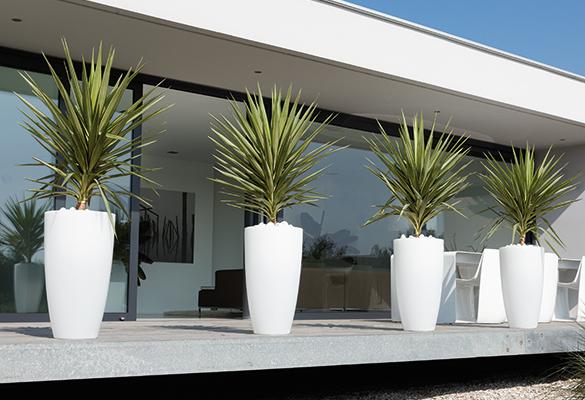pot de fleur plastique rond elho pure soft round high. Black Bedroom Furniture Sets. Home Design Ideas