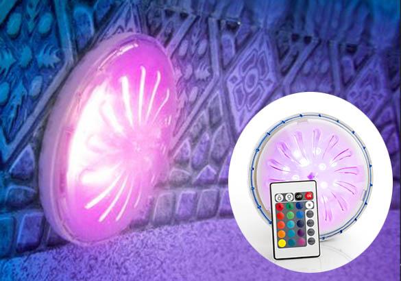 Projecteur led couleurs gr pour piscines hors sol for Projecteur led piscine hors sol