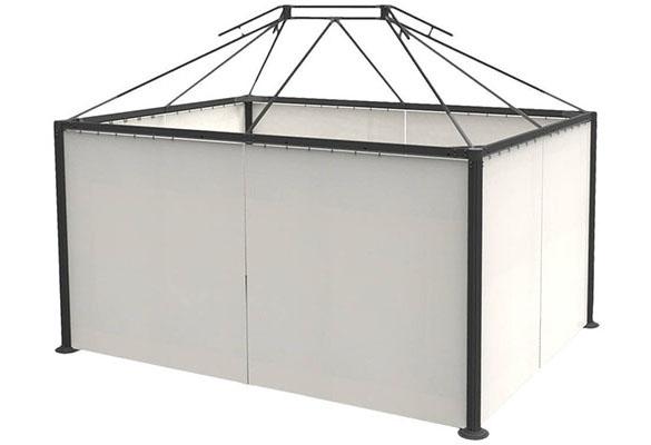 Jeu de 4 rideaux pour tonnelle Napoli 3 x 4 m Hespéride | Jardideco