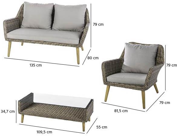 salon de jardin hesperide en r sine tress e mod le baltika. Black Bedroom Furniture Sets. Home Design Ideas