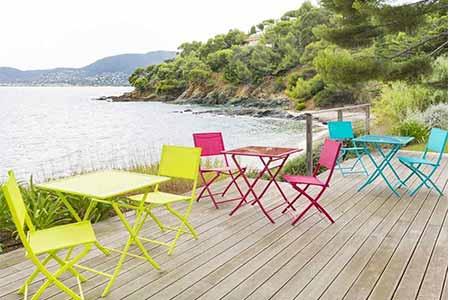 salon de jardin aliminium hesperide carr grenada couleur au choix. Black Bedroom Furniture Sets. Home Design Ideas