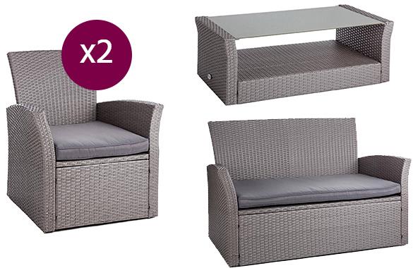 salon de jardin resine tressee hesperide bora bora noir. Black Bedroom Furniture Sets. Home Design Ideas