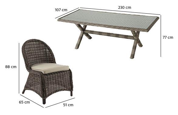 Salon de jardin hesperide en r sine tress e mod le betong - Salon de jardin en resine seychelles hesperide ...