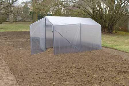 serre de jardin tunnel 200 x 450 x 150 200 cm double porte. Black Bedroom Furniture Sets. Home Design Ideas