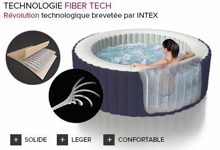 spa gonflable intex purespa rond bulles 4 places bleu jardideco. Black Bedroom Furniture Sets. Home Design Ideas