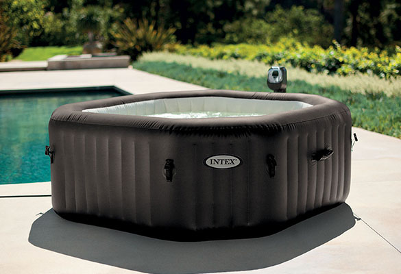 spa gonflable intex octogonal bulles jets 4 places accessoires offerts. Black Bedroom Furniture Sets. Home Design Ideas