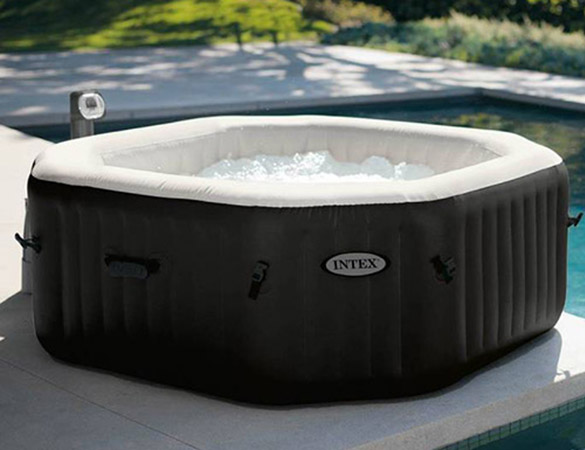 spa gonflable intex octogonal 6 places bulles jets accessoires. Black Bedroom Furniture Sets. Home Design Ideas