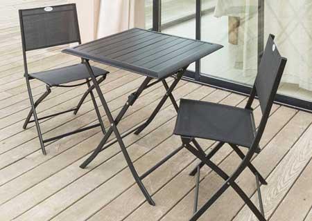 Table de jardin hesp ride carr e mod le azua 2 places - Table de jardin hesperide azua ...
