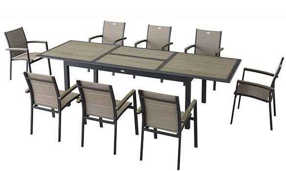 table de jardin extensible composite hesperide azua 8 12 places. Black Bedroom Furniture Sets. Home Design Ideas