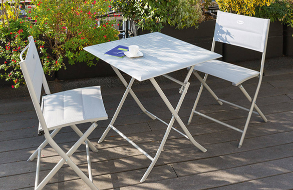 Table de jardin hesp ride carr e mod le azua 2 places - Table de jardin hesperide azua ...