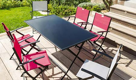 Best Awesome Table De Jardin Pvc Noir Images Amazing House Design With Table  Pliante Pvc