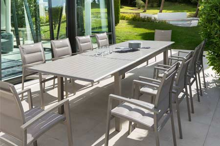 Awesome Grande Table De Jardin En Aluminium Contemporary - House ...