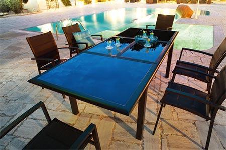 Table extensible azua 6 10 places noir hesp ride jardideco - Table de jardin hesperide azua ...