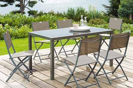 table de jardin hesp ride piazza 4 6 places jardideco. Black Bedroom Furniture Sets. Home Design Ideas