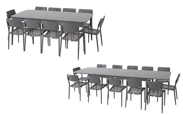 table extensible iceland 8 12 places graphite. Black Bedroom Furniture Sets. Home Design Ideas