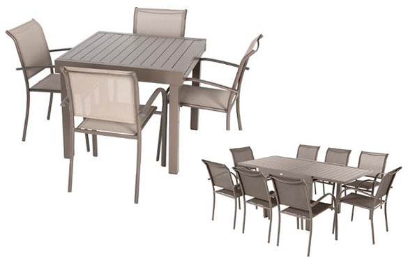 Table de jardin extensible aluminium hesperide piazza 4 for Table extensible 4 chaises