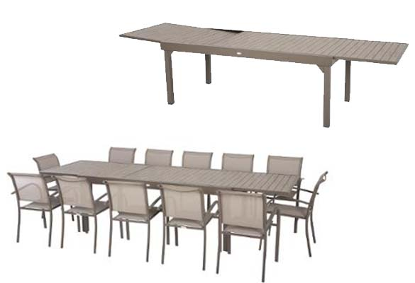Stunning table de jardin extensible piazza pictures for Table extensible 90x90