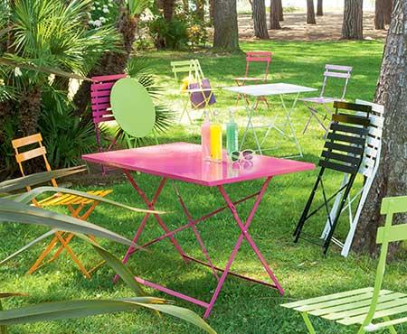 Table de jardin Hespéride Camargue pliante rectangle | Jardideco