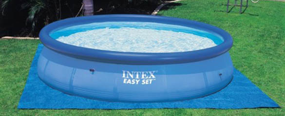 Tapis de sol pour piscine hors sol intex jardideco - Tapis de sol pour piscine ronde ...