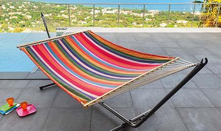 toile de hamac liego 200 x 140 cm hesp ride jardideco. Black Bedroom Furniture Sets. Home Design Ideas