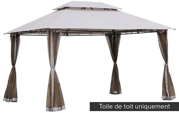 Toile de toit pour la tonnelle fogo hesp ride jardideco - Toile de toit pour balancelle de jardin ...