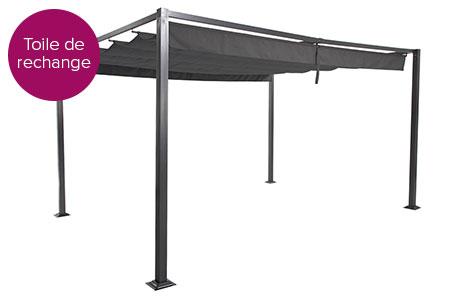 toile pour tonnelle hesp ride elliston 3x4 m ardoise jardideco. Black Bedroom Furniture Sets. Home Design Ideas