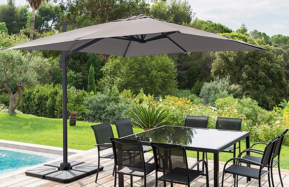 toile de rechange pour parasol fresno hesp ride jardideco. Black Bedroom Furniture Sets. Home Design Ideas