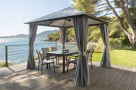 toile de toit pour tonnelle hesperide mod le ad la de 3 x 3 m grise. Black Bedroom Furniture Sets. Home Design Ideas