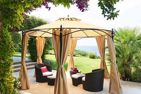 tonnelle de jardin hesp ride mod le iloha ronde 3 6 m. Black Bedroom Furniture Sets. Home Design Ideas