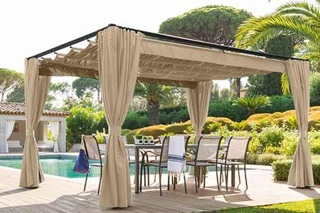 tonnelle de jardin hesp ride mod le palmeira carr e 3 x 3 m. Black Bedroom Furniture Sets. Home Design Ideas