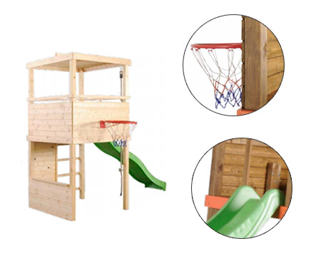 aire de jeux sport escalade toboggan basket jardideco. Black Bedroom Furniture Sets. Home Design Ideas