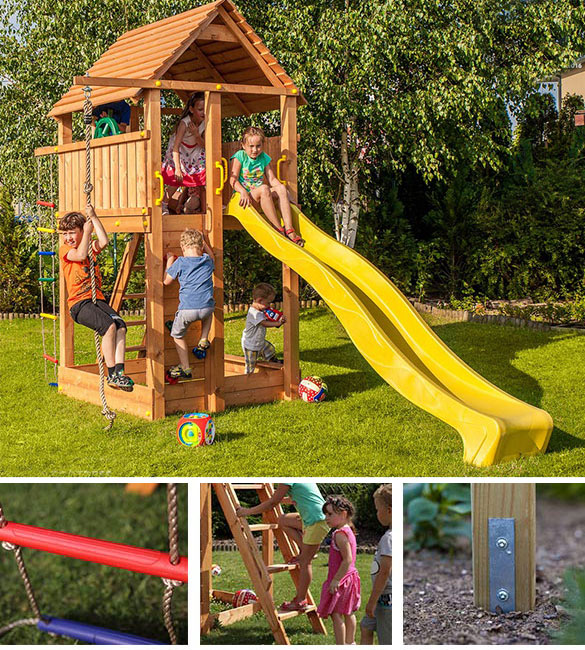 aire de jeux enfants mod le maxi plaza fungoo. Black Bedroom Furniture Sets. Home Design Ideas