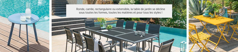 Table de jardin ronde carrée ou rectangle Hespéride : grand ...